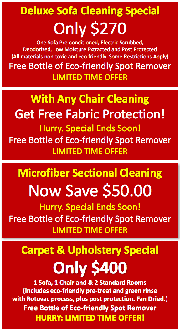 Upholstery Cleaning for Reading and surrounding MA areas.